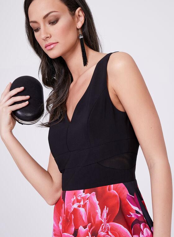 Frank Lyman - Short Floral Print Dress, Red, hi-res
