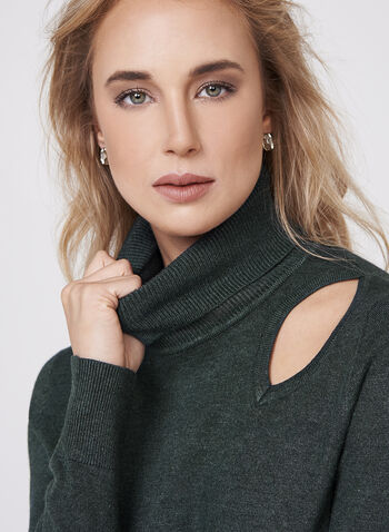 Elena Wang - Turtleneck Sweater , Green, hi-res
