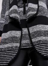 Frank Lyman - Cardigan ouvert en tricot rayé, Noir, hi-res