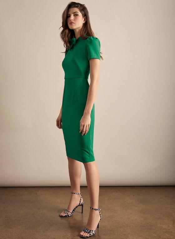 Maggy London - Short Sleeve Bow Detail Dress, Green
