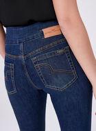 Carelli Jeans - Jean pull-on taille haute à jambe étroite, Bleu, hi-res