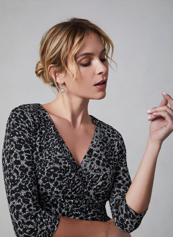 ¾ Sleeve Jersey Dress, Black