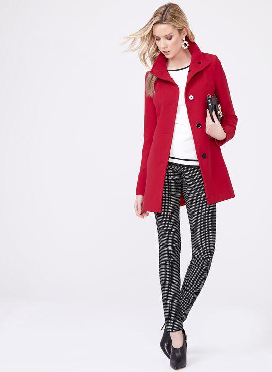 Nuage - Manteau boutonné à col montant, Rouge, hi-res