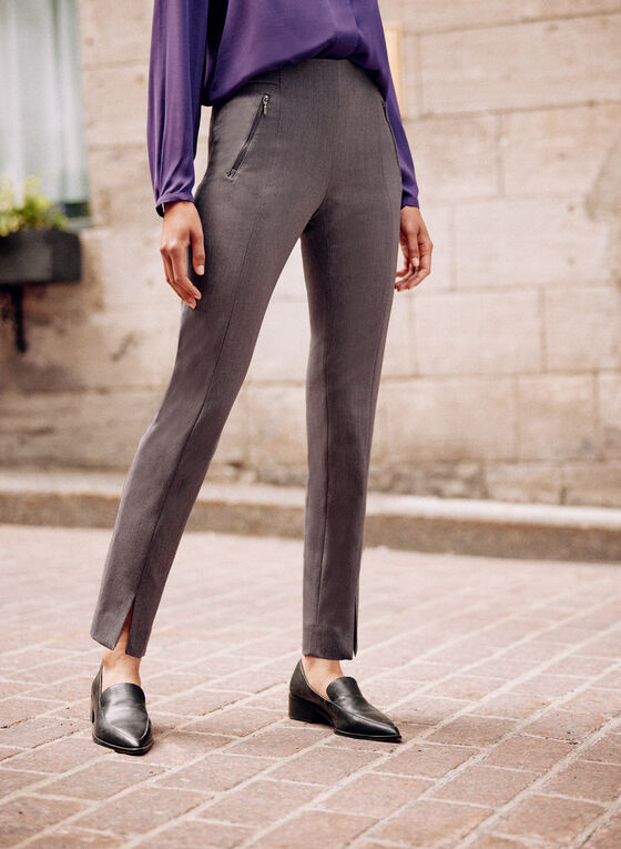 Amber Ankle Length Pants, Grey