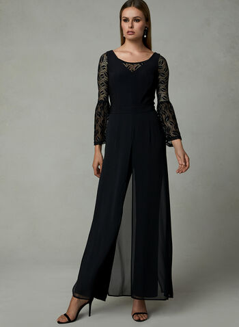 Bell Sleeve Lace Bolero, Black, hi-res