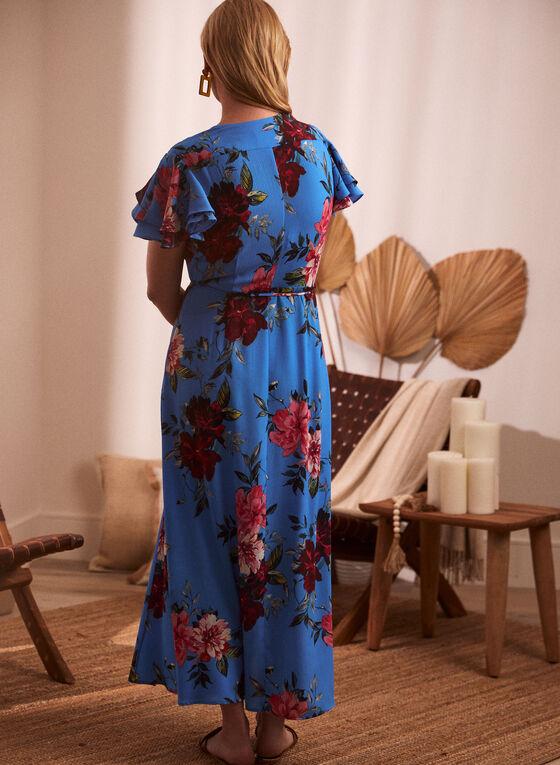 Joseph Ribkoff - Robe maxi à motif floral , Bleu