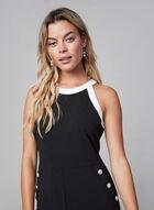Karl Lagerfeld - Contrast Crepe Jumpsuit , Black, hi-res