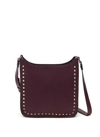 Studded Crossbody Bag, Red, hi-res