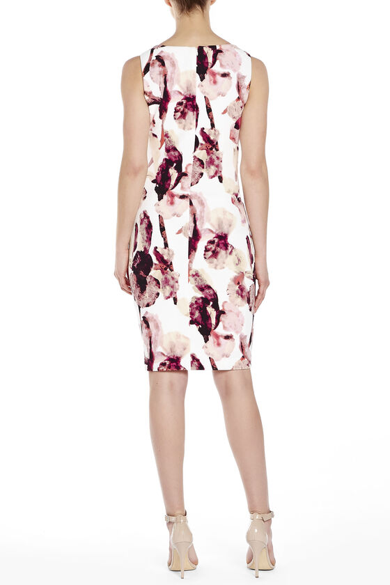 94cf3ff1 Ivanka Trump Printed Side Zip Starburst Seam Dress, Multi, hi-res ...