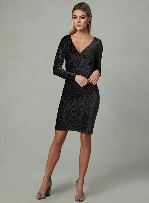 Aidan Mattox - Faux Wrap Dress, Multi, hi-res