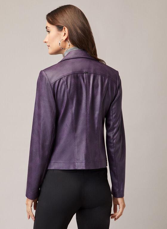 Vex - Veste en faux cuir à glissières, Violet