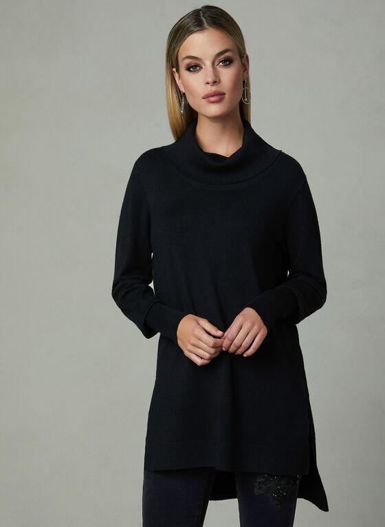 Conrad C - Knit Tunic Top, Black