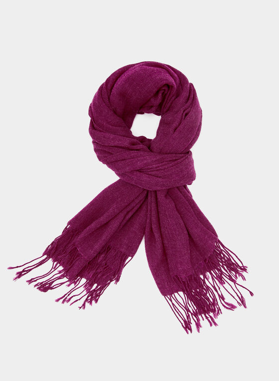 Twisted Fringe Scarf, Pink, hi-res