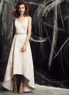 Cachet - Metallic Brocade Fit & Flare Gown, Off White, hi-res