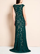 Lace High-Low Mermaid Gown, Green, hi-res