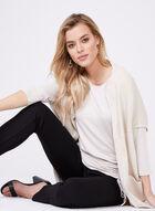 Haut en jersey avec détail froncé et lien , Blanc cassé, hi-res