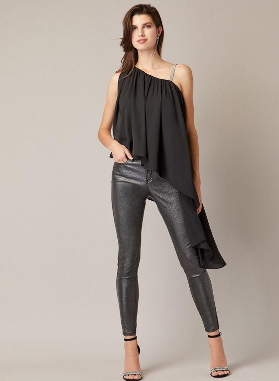 Haut drapé asymétrique , Noir