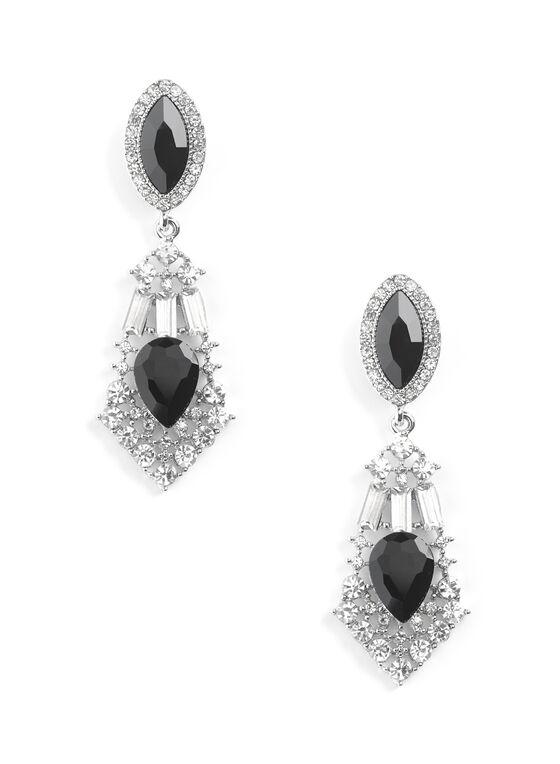 Crystal Chandelier Earrings Black Hi Res