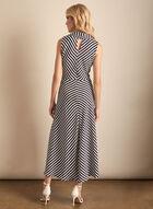 Joseph Ribkoff - Stripe Print Belt Detail Dress, Blue