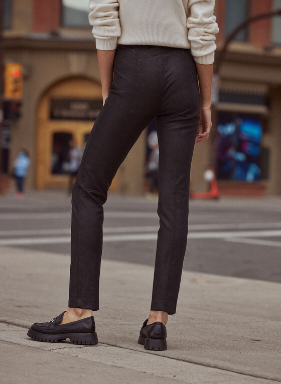 Pantalon Madison à motif serpent, Noir