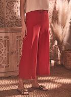 Pantalon gaucho en bengaline, Rouge