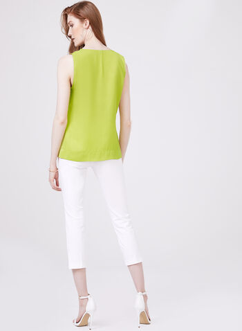 Conrad C - Sleeveless Charmeuse Blouse, Green, hi-res