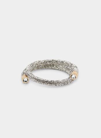 Crystal Coil Bracelet , Silver, hi-res,  bracelet, crystal, coil, fall 2019