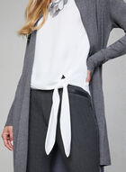 Side Tie Blouse, Off White