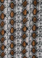Écharpe motif serpent, Brun