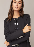 Button Front Redingote, Black