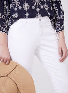 Slim Leg Ankle Jeans, White, hi-res