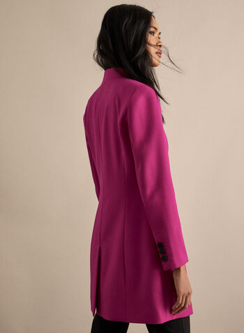 Notch Collar Redingote, Pink,  redingote, jacket, long sleeves, notch collar, spring 2020