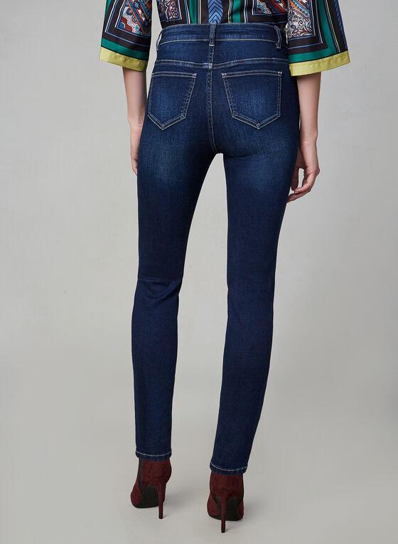 Jeans sculptant à jambe étroite, Bleu, hi-res