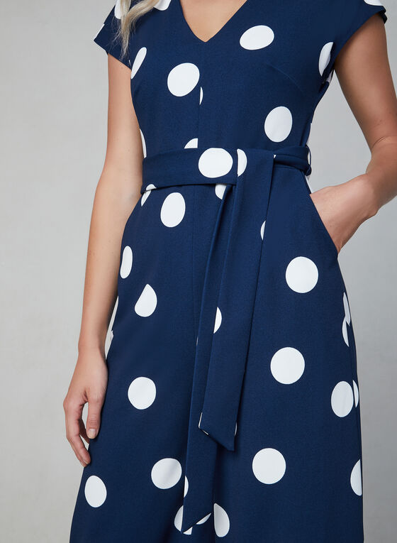 Karl Lagerfeld Paris - Polka Dot Jumpsuit, Blue