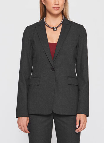 Loubon- Structured Blazer, Grey, hi-res