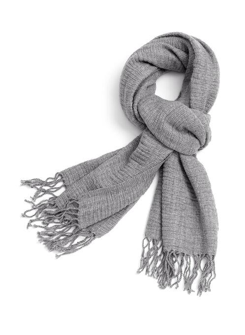 Foulard pashmina en tricot, Gris, hi-res