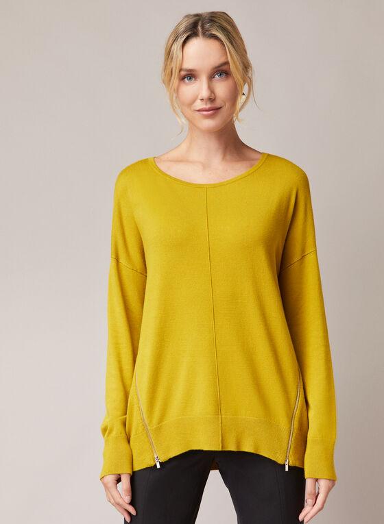 Zipper Detail Sweater, Green