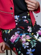 Joseph Ribkoff - Floral Print Slim Leg Pants, Black, hi-res
