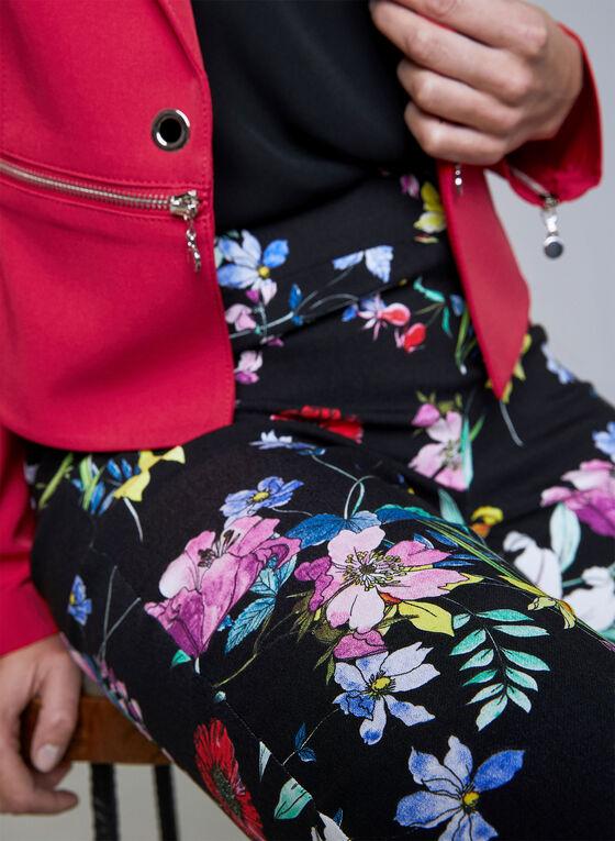 Joseph Ribkoff - Pantalon pull-on à imprimé floral, Noir, hi-res