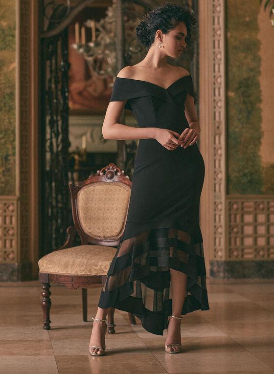 BA Nites - Illusion Detail Dress, Black