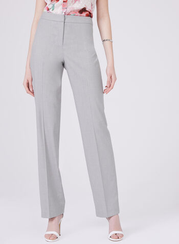 Louben - Long Straight Leg Pants, Silver, hi-res