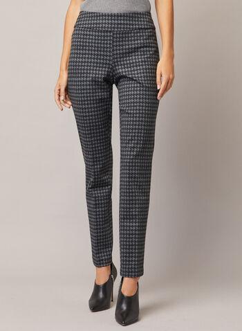 Pantalon Madison à motif pied-de-poule, Gris,  pantalon, madison, étroit, pied-de-poule, point de rome, automne hiver 2020