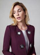 Eyelet Detail Redingote Jacket, Purple