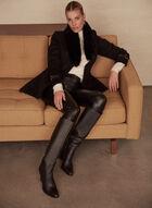 Mallia - Wool & Cashmere Blend Coat, Black