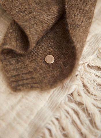 Foulard dégradé en laine mélangée, Noir,  accessoires, foulard, oblong, rectangulaire, dégradé de couleurs, mélange de laine, automne hiver 2021