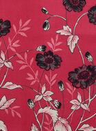 Écharpe fleurie réversible, Rose, hi-res