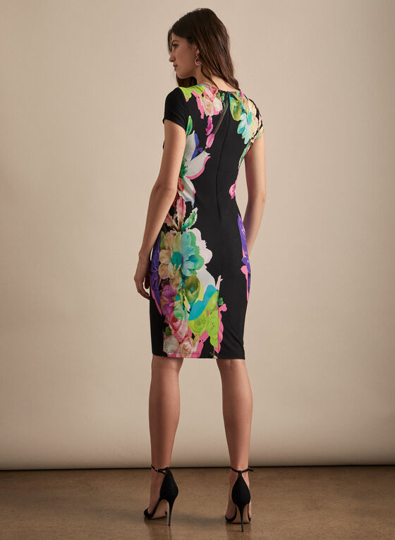 Joseph Ribkoff - Floral Print Dress, Black