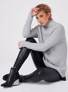 Funnel Neck Knit Sweater, Grey, hi-res