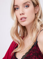 Nanette Lepore – Satin Lace Nightgown Robe Set, Red, hi-res