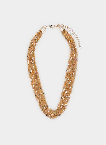 Multi Chain Necklace, Gold,  necklace, multi-chain, golden, metallic, spring summer 2020